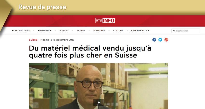 Matériel médical en Suisse