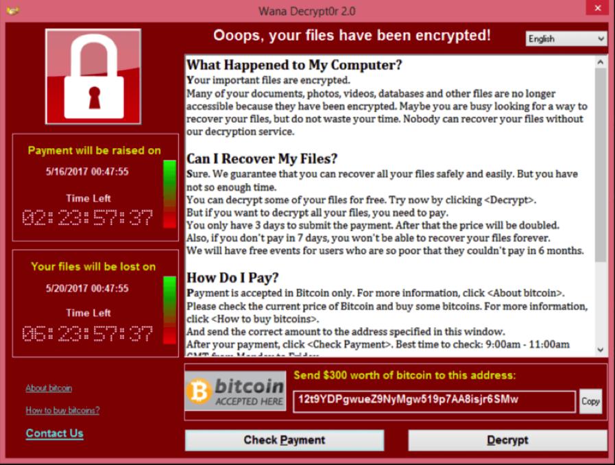 ransomware message d'erreur