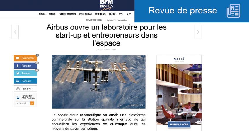 laboratoire ouvert à tous dans l'espace